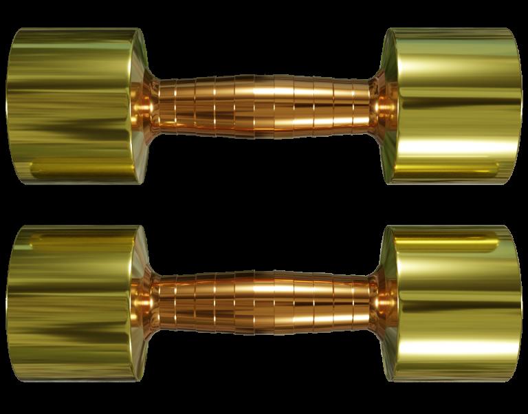 Hantlar Brass and Copper dumbbells