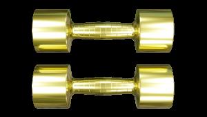 brass dumbbells